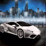 Lamborghini-mit-Skyline