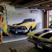 V8-Garagenwand
