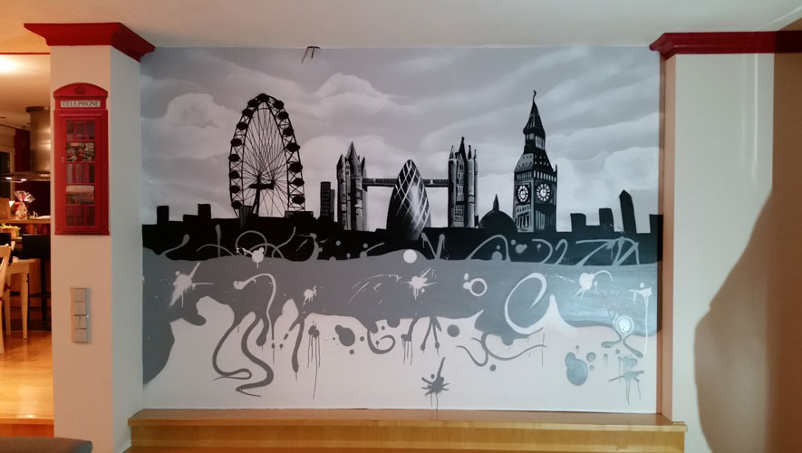 Gut gemocht Skyline an Wand | GRAFFITIARTIST DJ25